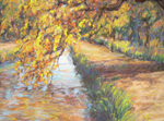 Alameda Cottonwood pastel by Jeff Potter SOLD