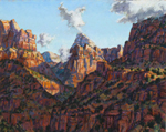 West Zion Shadows pastel by Jeff Potter AVAILABLE