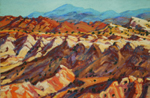 White Mesa Patterns pastel by Jeff Potter AVAILABLE