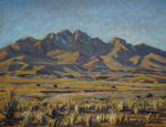 Winter Shadows on Ladron Peak pastel by Jeff Potter AVAILABLE