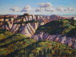 Zion view from Lava Point plein air pastel by Jeff Potter AVAILABLE