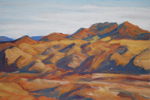 Cerrilos Hills Shadow Patterns pastel by Jeff Potter AVAILABLE