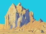 """""""Digital Shiprock"""" by Jeff Potter"""